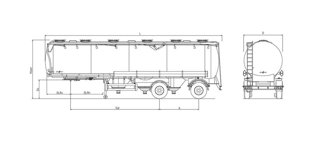 Technische Zeichnung - SF 2052/6 ZML