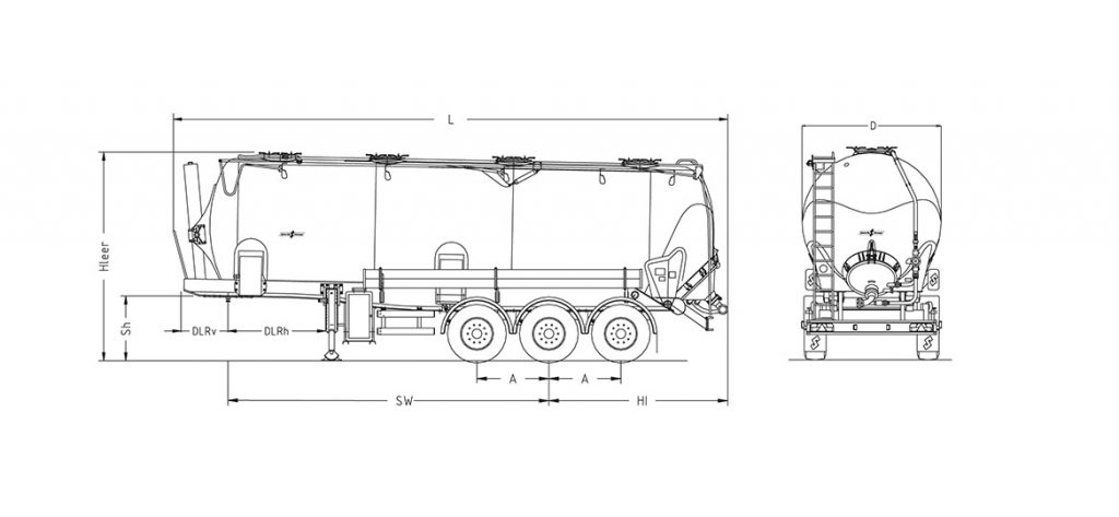 Technical drawing -  SK 2740 CAL