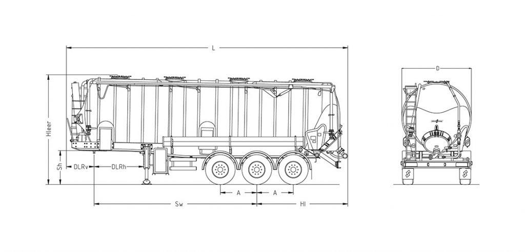 Technische Zeichnung - SK 2740 CAL Vakuum