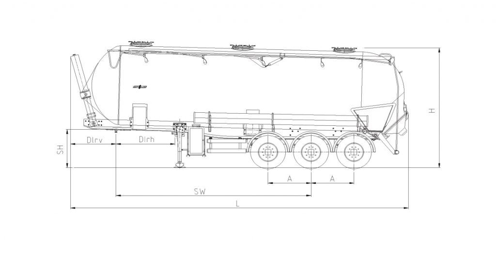 Technical drawing -  SK 2744 CAL Composite