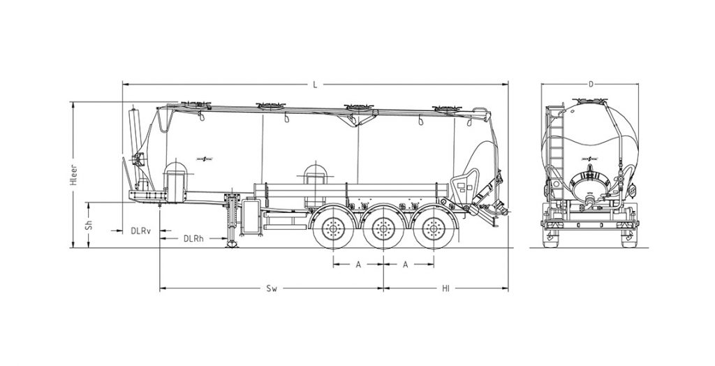 Technical drawing -  SK 2745 CAL