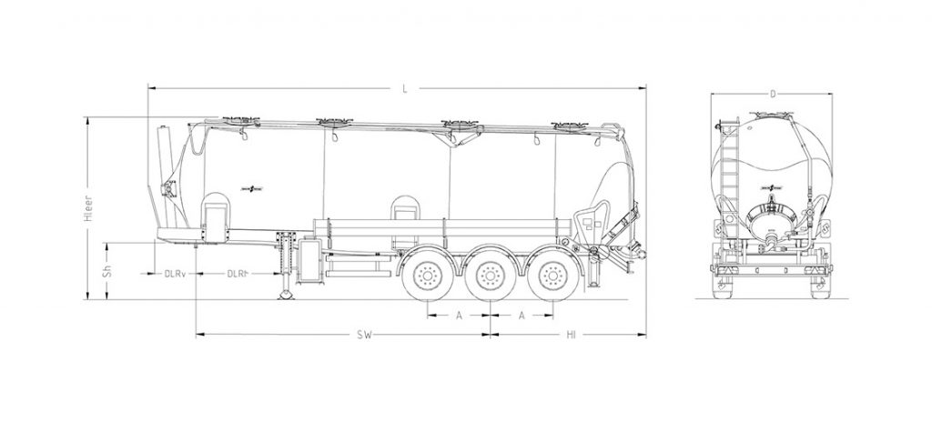 Technical drawing -  SK 2748 CAL