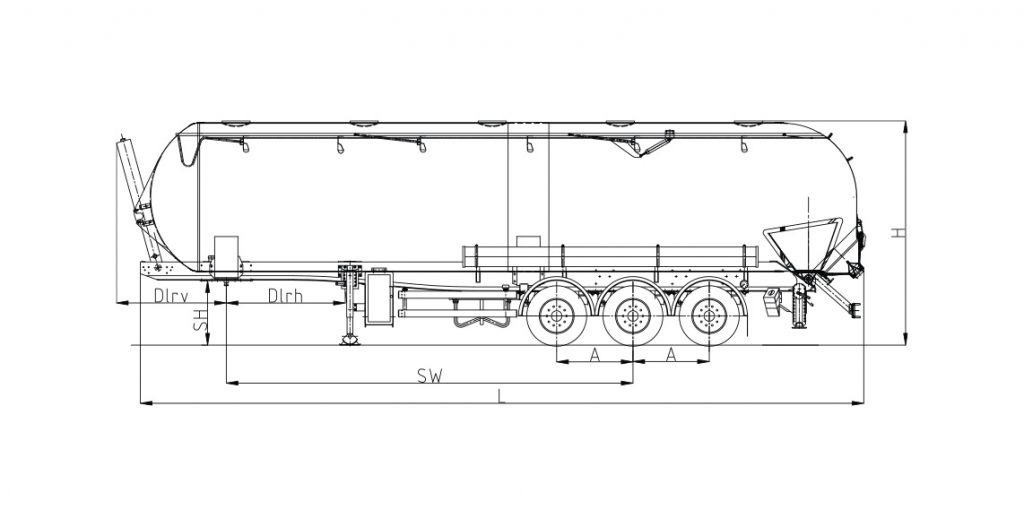 Technical drawing -  SK 2758 CAL Composite