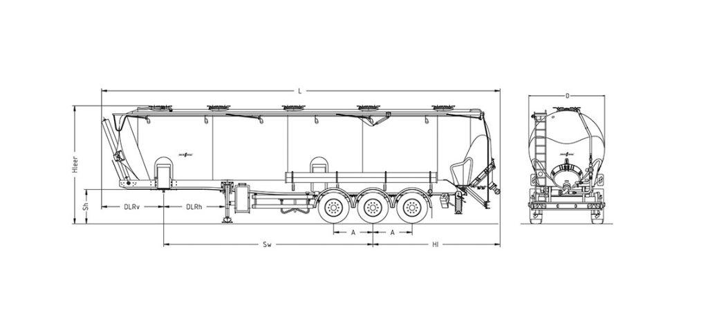 Technische Zeichnung - SK 2760 CAL