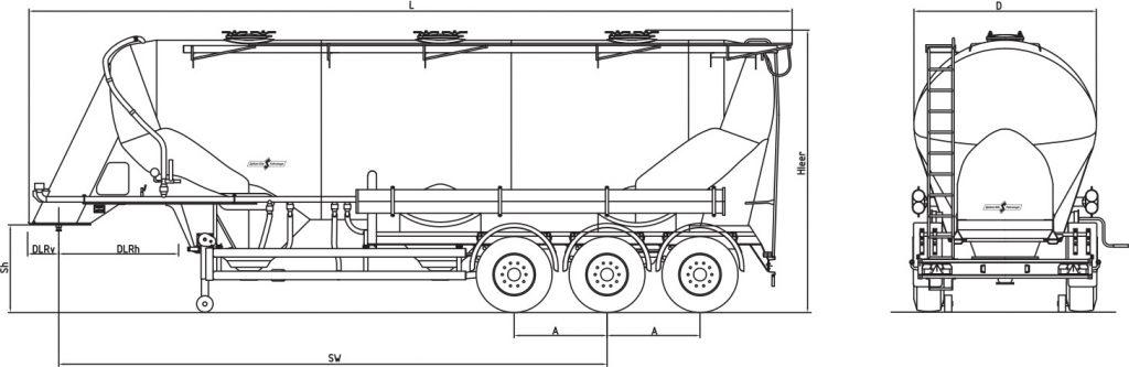 Technische Zeichnung - SF 2745/3 P