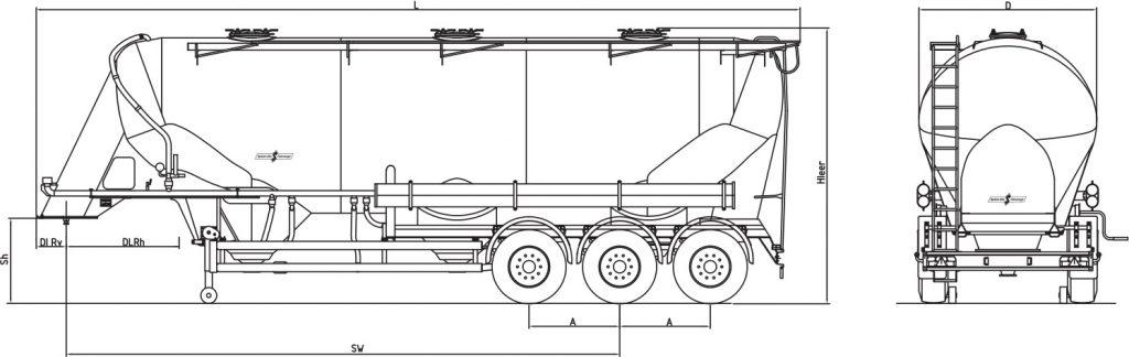 Technische Zeichnung - SF 2748/3 P